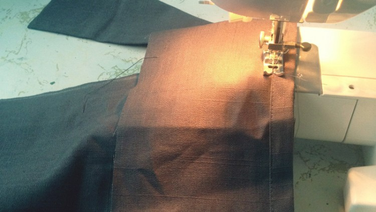 Sewing the night away