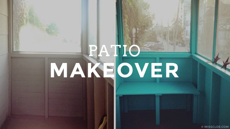 I got myself a brand new awesome patio (well.. makeover)!!