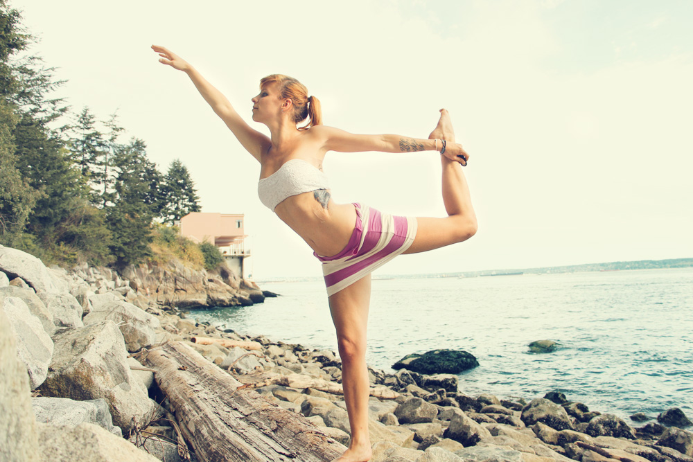 Yoga by the beach