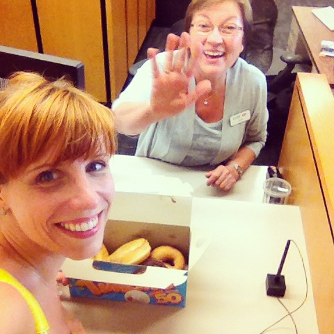 Donuts as thank you to my lovely bankers at HSBC and Scotia Bank