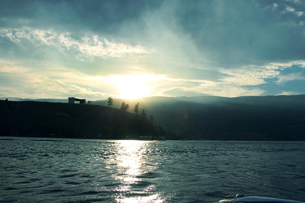Sunset on Lake Okanagan